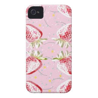 Strawberries Fiesta Pattern iPhone 4 Covers