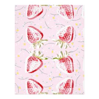 Strawberries Fiesta Pattern Letterhead