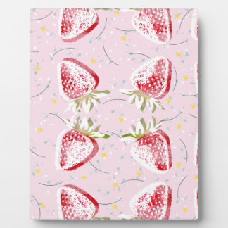 Strawberries Fiesta Pattern Plaque