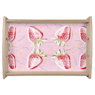 Strawberries Fiesta Pattern Serving Tray