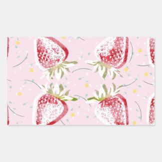 Strawberries Fiesta Pattern Sticker