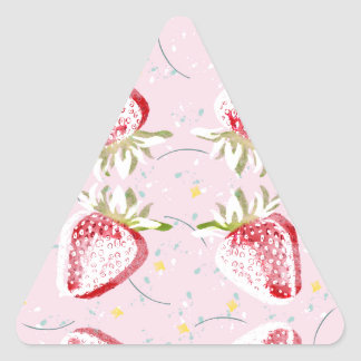 Strawberries Fiesta Pattern Triangle Sticker