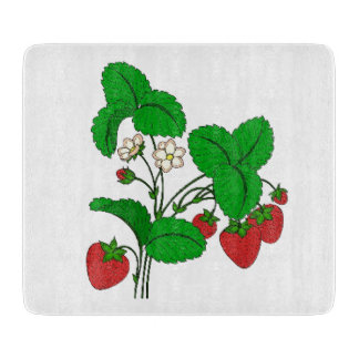Strawberries for Breakfast Cutting Board
