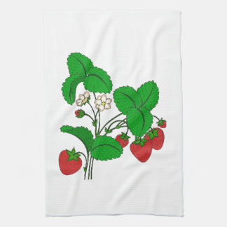 Strawberries for Breakfast Kitchen Towel