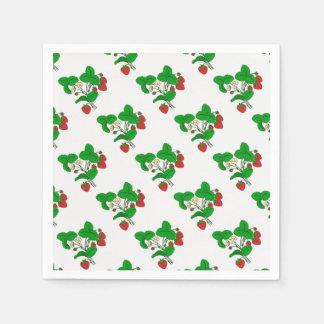 Strawberries for Breakfast Paper Napkin