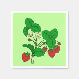 Strawberries for Breakfast Paper Napkins
