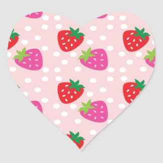 Strawberries Heart Sticker
