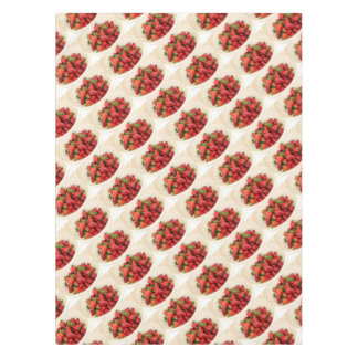 Strawberries in a Beige Colander Close Up Tablecloth