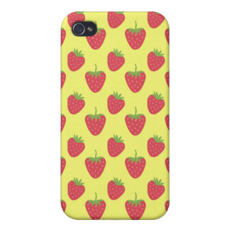 Strawberries iPhone4 Case (yellow) Case For The iPhone 4