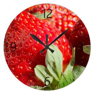 Strawberries Large Clock