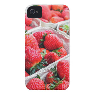 Strawberries market iPhone 4 Case-Mate cases