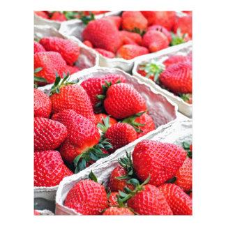 Strawberries market letterhead design