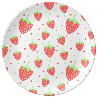Strawberries Porcelain Plate