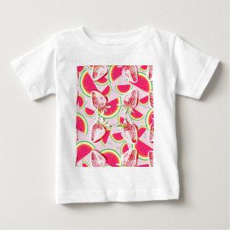 Strawberries Melon Fiesta Pattern Baby T-Shirt