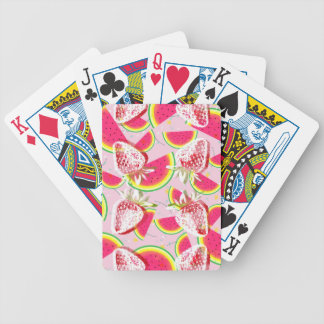Strawberries Melon Fiesta Pattern Bicycle Playing Cards