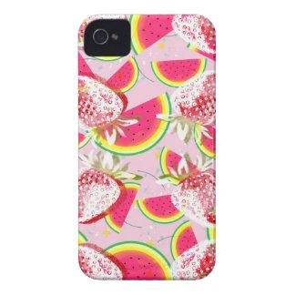 Strawberries Melon Fiesta Pattern iPhone 4 Case