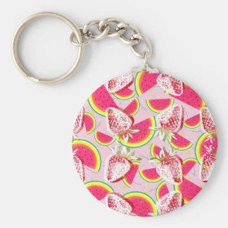Strawberries Melon Fiesta Pattern Keychain