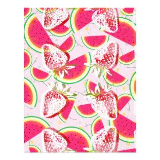 Strawberries Melon Fiesta Pattern Letterhead