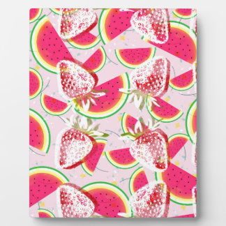 Strawberries Melon Fiesta Pattern Plaque