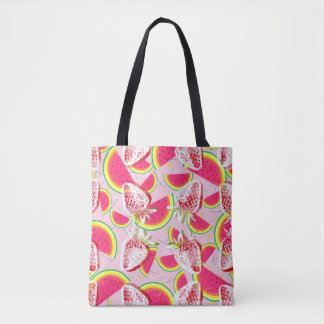 Strawberries Melon Fiesta Pattern Tote Bag
