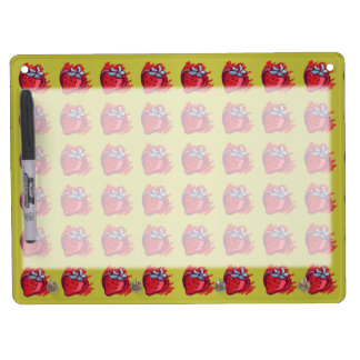Strawberries On Gold Craft Items Dry Erase Board With Keychain Holder