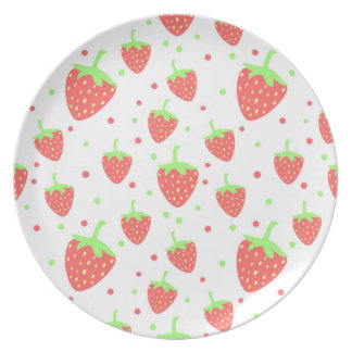 Strawberries Party Plate