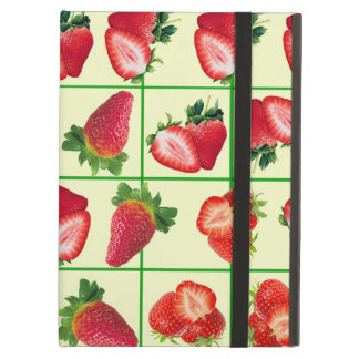 Strawberries pattern cover for iPad air