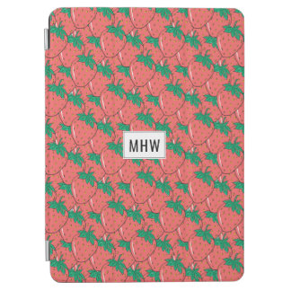 Strawberries Pattern custom monogram device covers iPad Air Cover