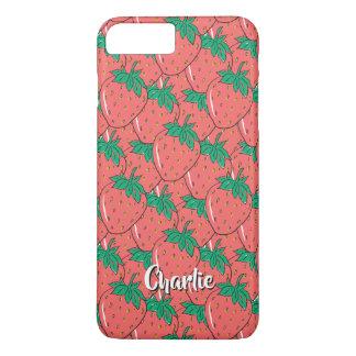 Strawberries Pattern custom name phone cases