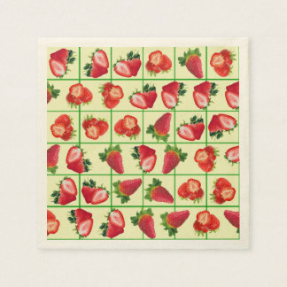 Strawberries pattern disposable napkins