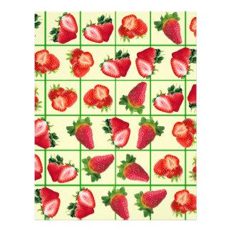 Strawberries pattern flyer