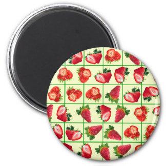Strawberries pattern magnet