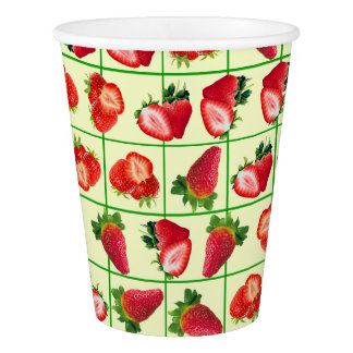 Strawberries pattern paper cup