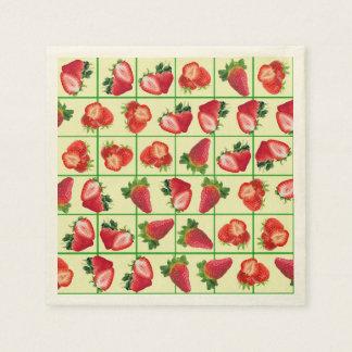 Strawberries pattern paper napkin