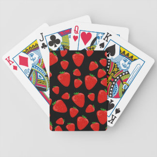 Strawberries pattern poker deck