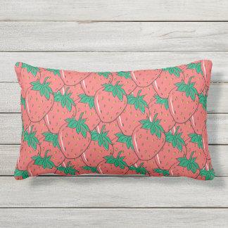 Strawberries Pattern throw pillows