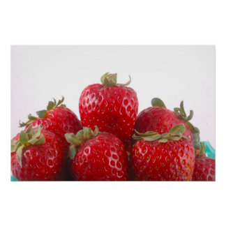 Strawberries Photo Poster