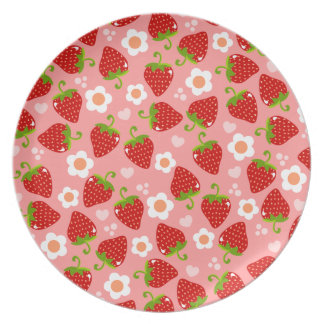 Strawberries Party Plates