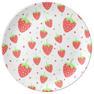 Strawberries Porcelain Plates