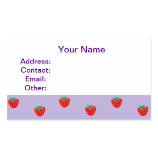 Strawberries Purple Business Cards