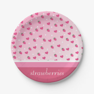 strawberries 7 inch paper plate