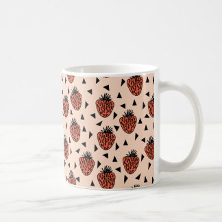 Strawberries Strawberry Blush Coral /Andrea Lauren Coffee Mug