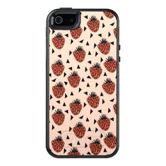 Strawberries Strawberry Blush Coral /Andrea Lauren OtterBox iPhone 5/5s/SE Case