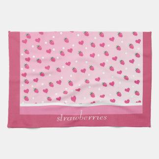 strawberries towels