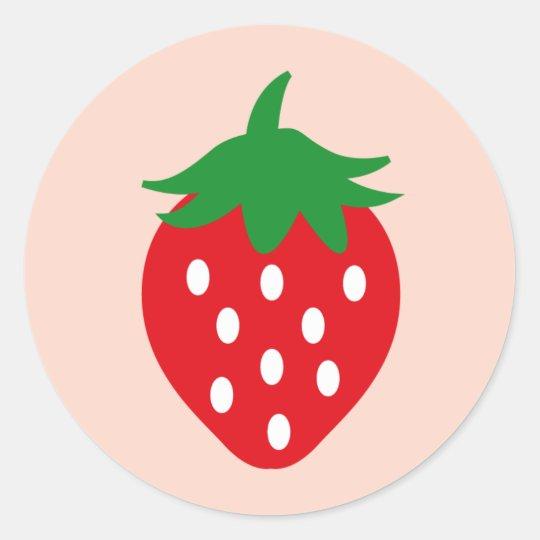 strawberry1 classic round sticker