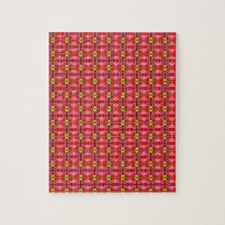 Strawberry abstract pattern jigsaw puzzle