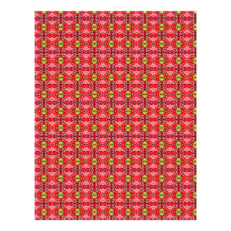 Strawberry abstract pattern letterhead