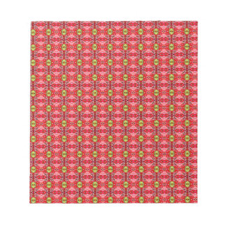Strawberry abstract pattern notepad