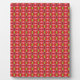 Strawberry abstract pattern plaque