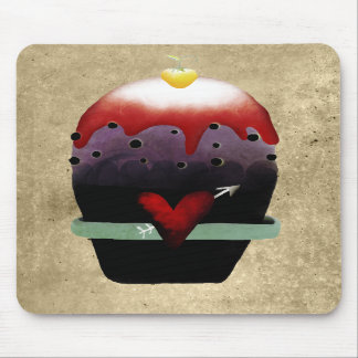 Strawberry and cream cupcake primitive mousepad